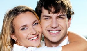 Young couple smiling image