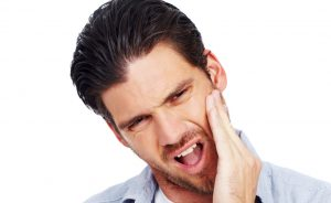 Man with oral pain image
